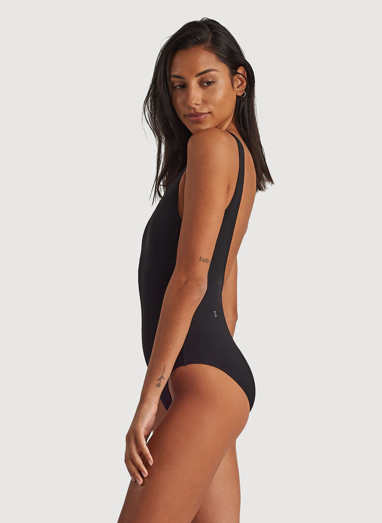 Kits Scoop Back Swim One Piece, BLACK | Kit and Ace
