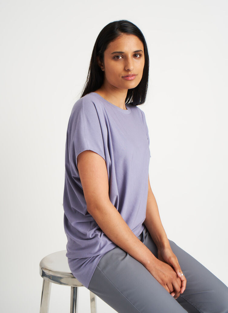 Wave Tee, Lavender Grey | Kit and Ace