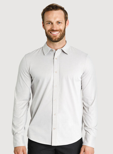 City Tech Long Sleeve Shirt, Oat Chambray | Kit and Ace