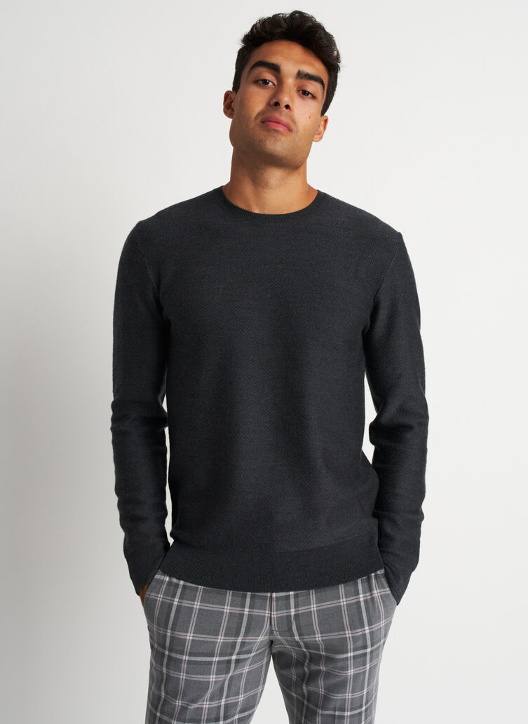 All Day Merino Sweater, Heather Charcoal | Kit and Ace
