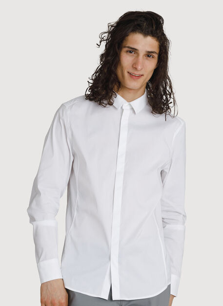 Crosstown Stretch Button Up, Bright White | Kit and Ace