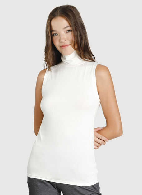 Kit Sleeveless Turtleneck, ECRU | Kit and Ace