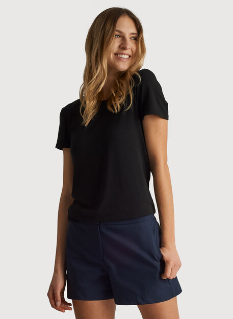 Kit Tech Jersey Crew Tee Slim Fit, HTHR Black | Kit and Ace