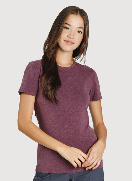 Kit Crew Tee, HTHR Plum Wine | Kit and Ace