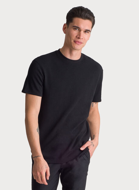 Brushed Crew Short Sleeve, BLACK | Kit and Ace