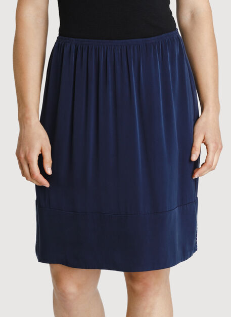 Bike to Office Silk Skirt, DK Navy | Kit and Ace