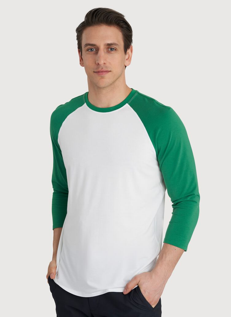 Ace Baseball Tee, Bright White/Amazon | Kit and Ace