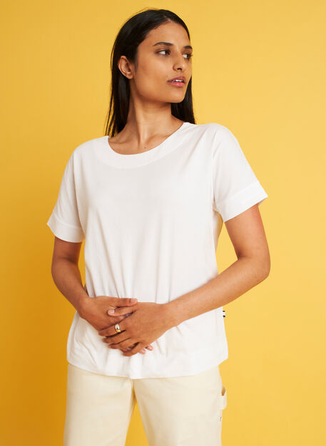 Back to Front Tee, Bright White | Kit and Ace