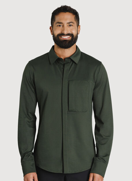 City Tech Commuter Shirt, Deep Forest | Kit and Ace