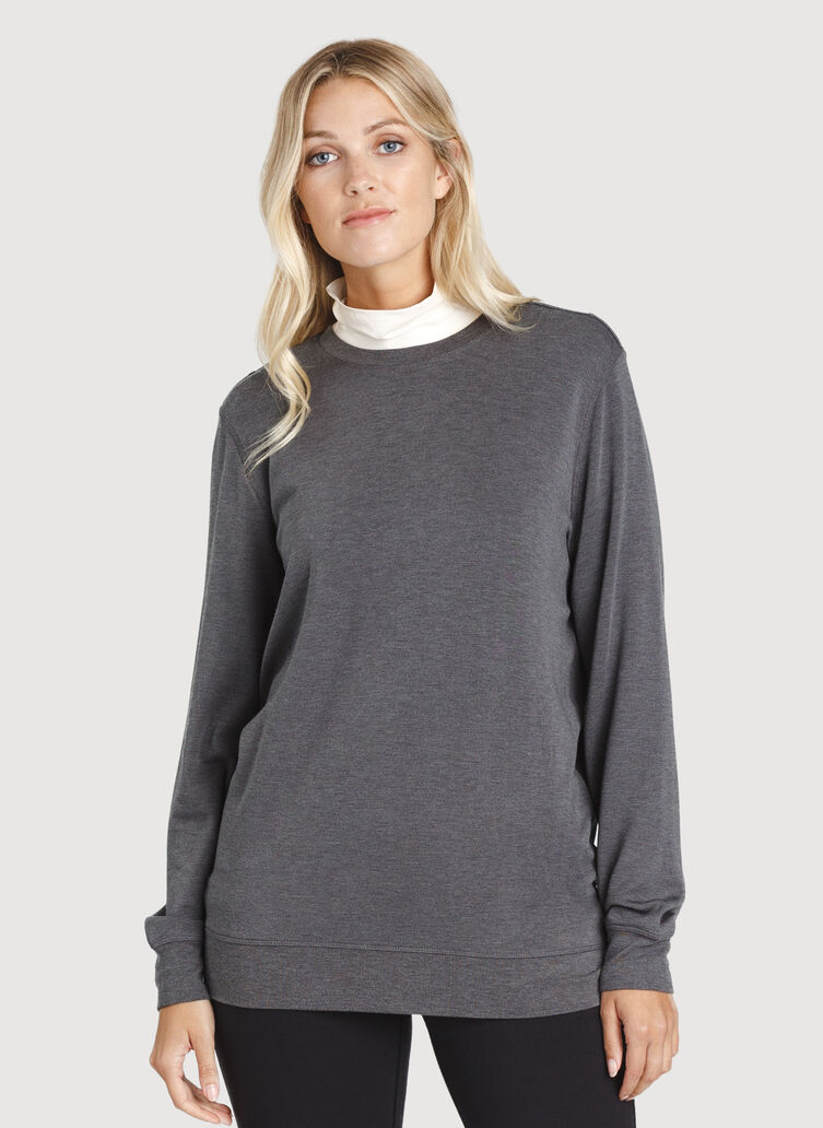 Weekend Pullover, HTHR Charcoal | Kit and Ace