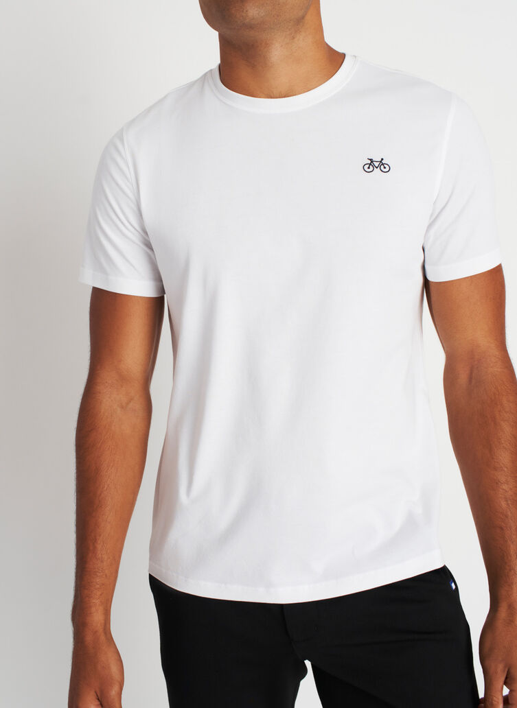 Motion Crewneck Tee, Bright White | Kit and Ace