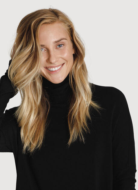 Burrow Brushed Turtleneck, BLACK | Kit and Ace