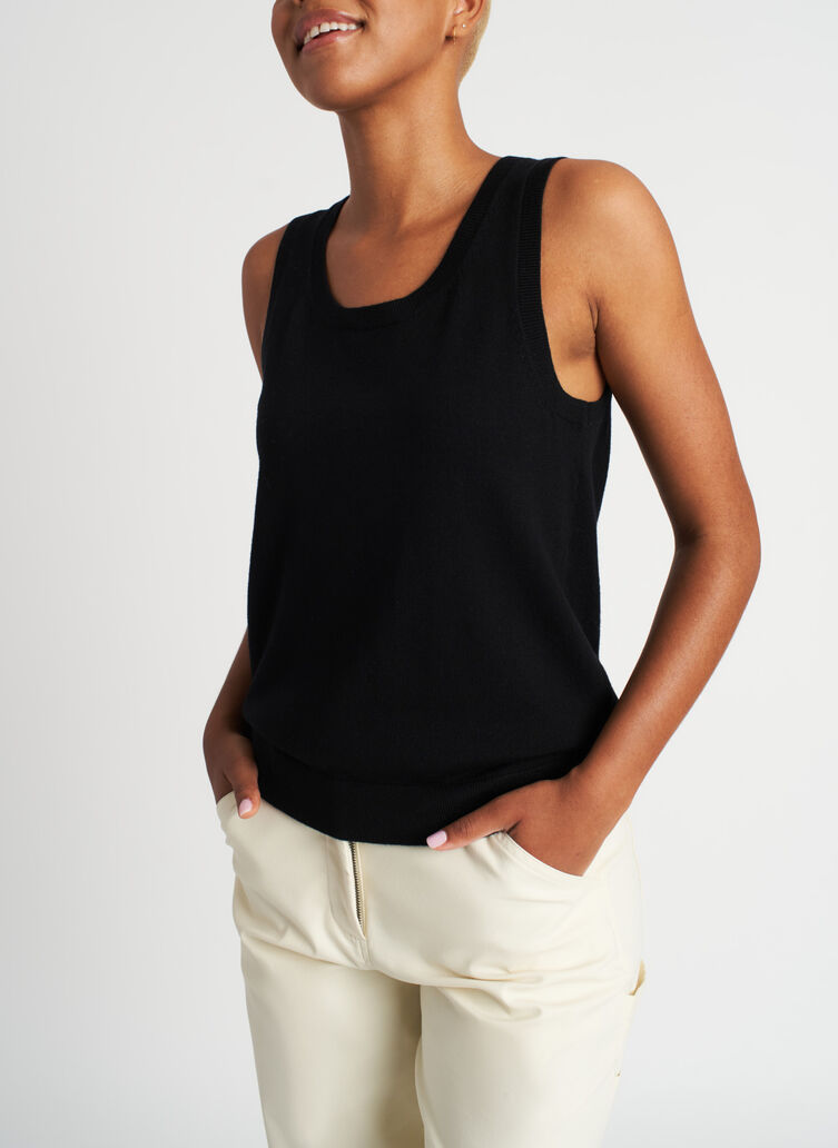 Nicely Knit Tank, Black | Kit and Ace