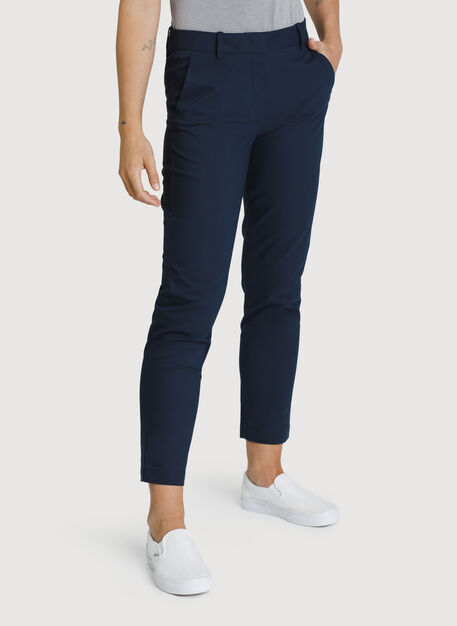 Navigator Ride Ankle Pants Slim Fit, Dark Navy | Kit and Ace