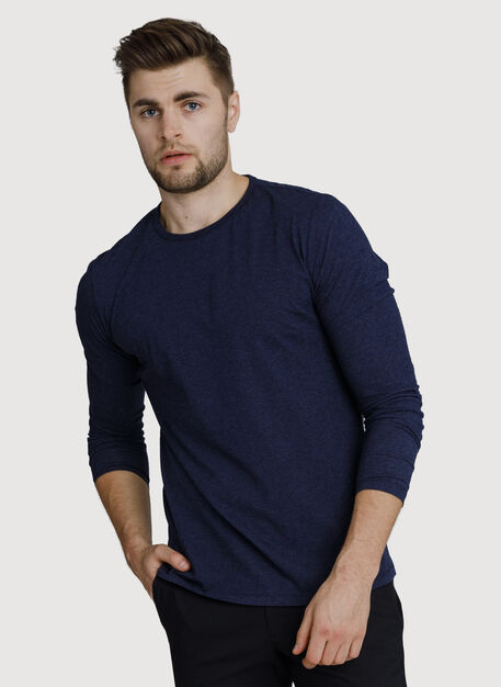 Ace Long Sleeve, HTHR Deep Navy | Kit and Ace