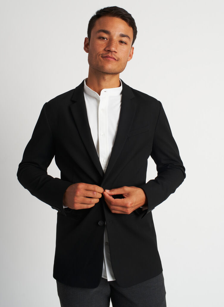 Recycled Suiting Blazer, Black | Kit and Ace