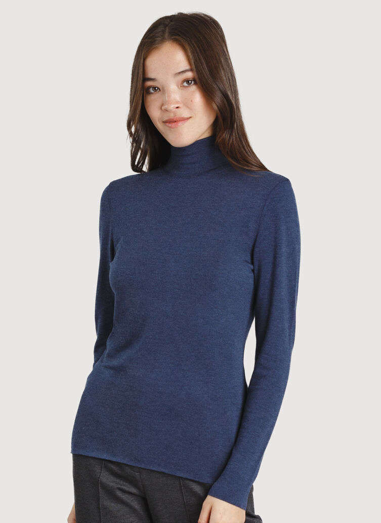 Upgrade Turtleneck, HTHR DK Navy | Kit and Ace