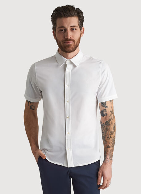 City Tech Short Sleeve Shirt, Bright White   Kit and Ace