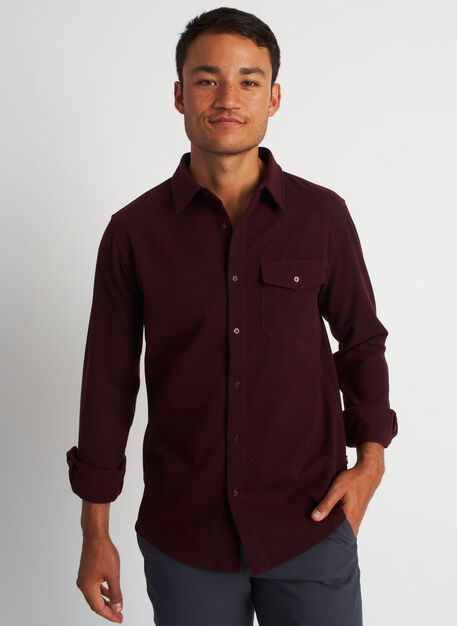 Urban Adventure Shirt, Heather Plum | Kit and Ace