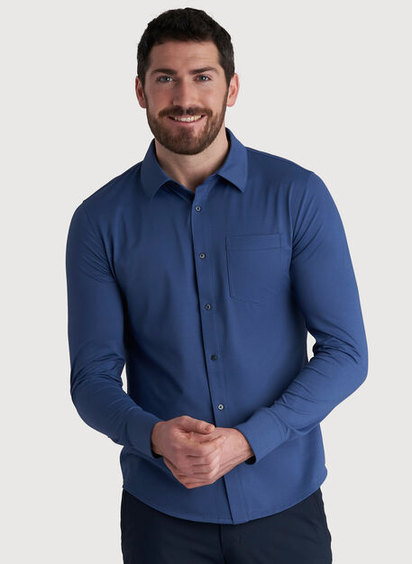City Tech Classic Shirt, Dark Denim | Kit and Ace