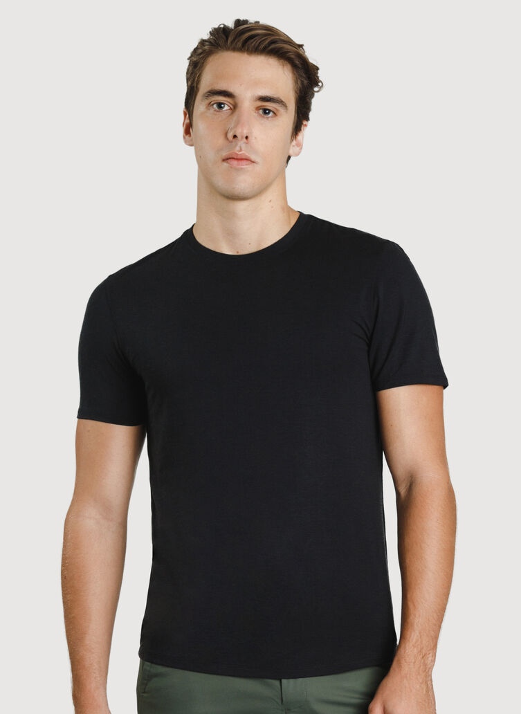 Ace Crew Tee, BLACK | Kit and Ace
