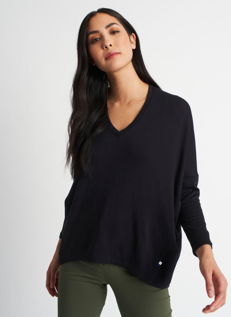 Easy Over Pullover, Black | Kit and Ace