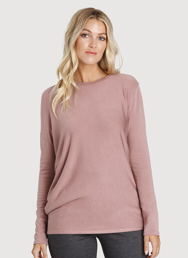 Wave Long Sleeve, HTHR Fawn | Kit and Ace