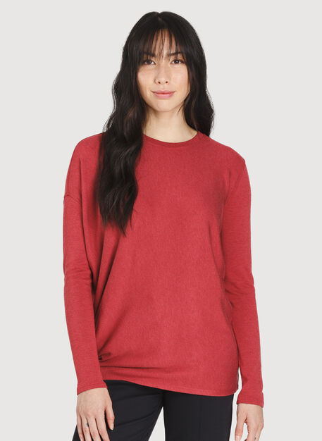 Wave Long Sleeve, HTHR Chili Pepper | Kit and Ace