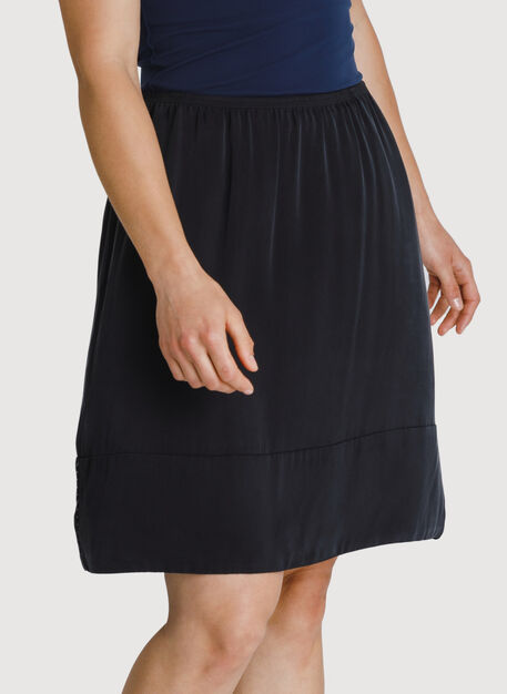 Bike to Office Silk Skirt, BLACK | Kit and Ace