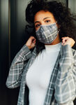 Go Anywhere Mask, PLAID Grey/Charcoal | Kit and Ace