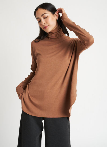 Burrow Turtleneck, Heather Toffee   Kit and Ace