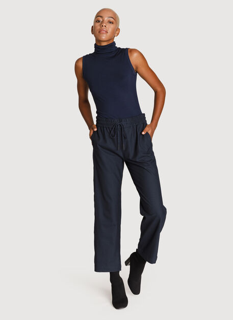 Relaxed Stretch Trousers, Dark Navy | Kit and Ace