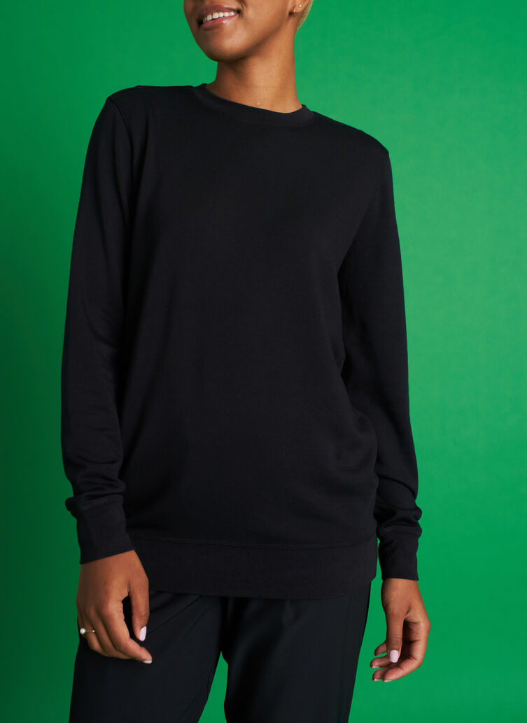 Weekend Pullover, Black | Kit and Ace