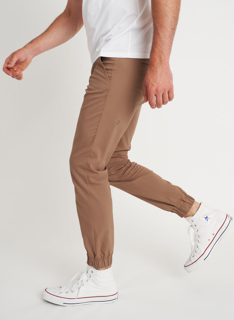 Commute Joggers | Navigator Collection, Bark | Kit and Ace