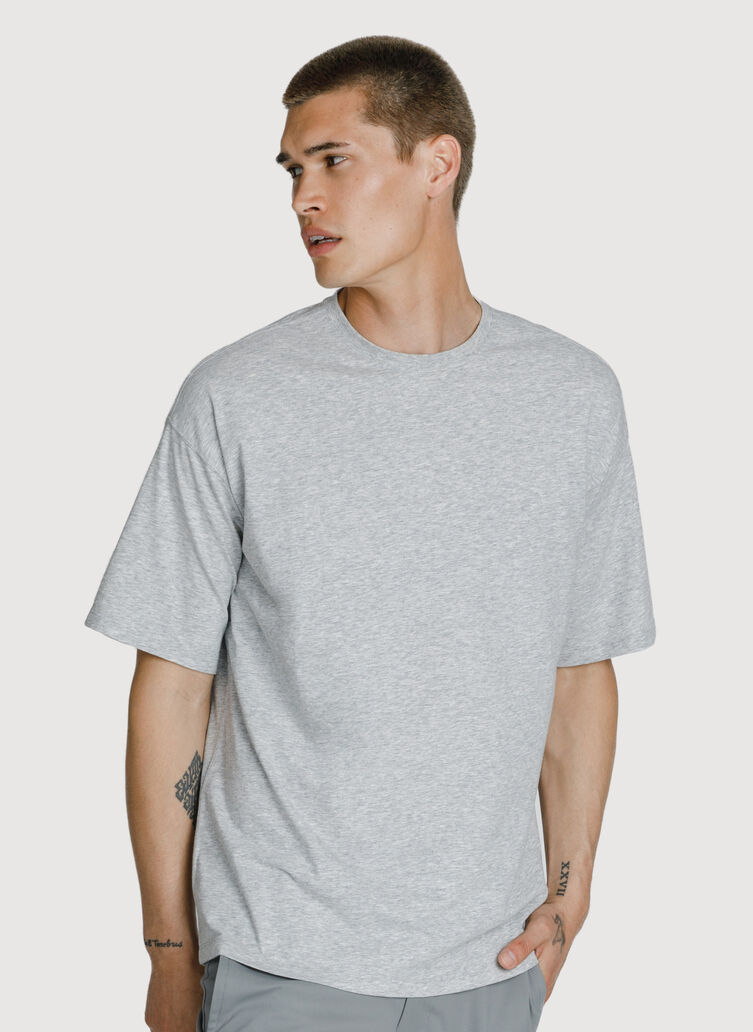 Ace Pima Oversized Tee, HTHR Metal | Kit and Ace