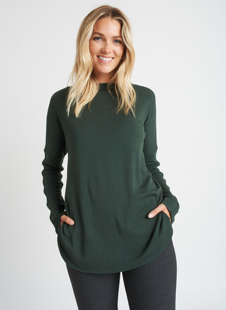 Burrow Pullover, Heather Forest | Kit and Ace