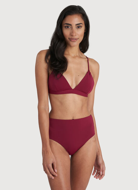 Pool Side Swim Top, Cranberry | Kit and Ace