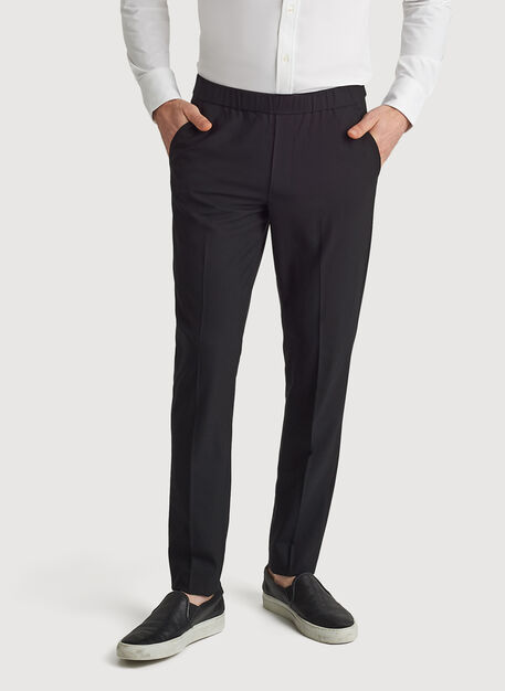 Stretch Suiting Pull-On Pant, BLACK | Kit and Ace