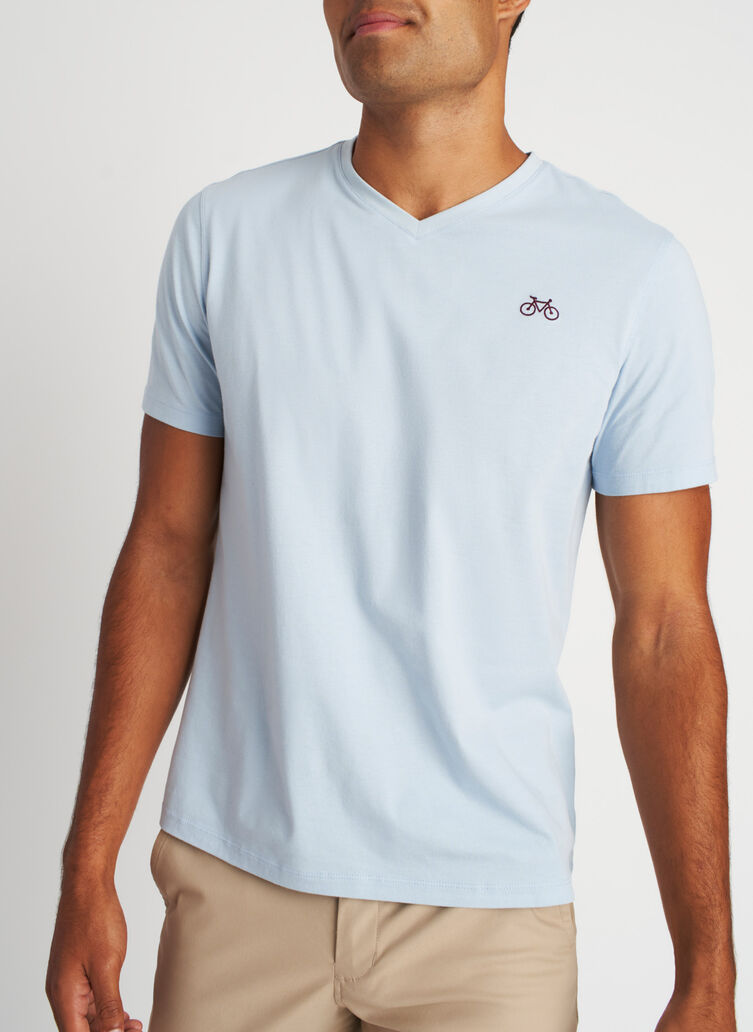 Motion V-Neck Tee, Celestial Blue | Kit and Ace