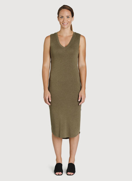 Good Feels Sleeveless Dress, HTHR Moss | Kit and Ace