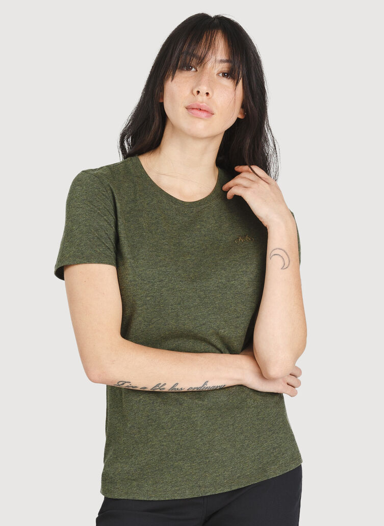 Movement Crew Tee, HTHR Deep Forest | Kit and Ace