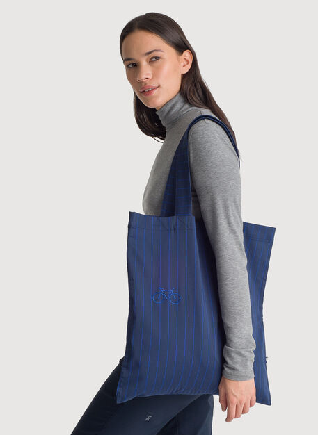 Tote Bag, NAVY PINSTRIPE | Kit and Ace