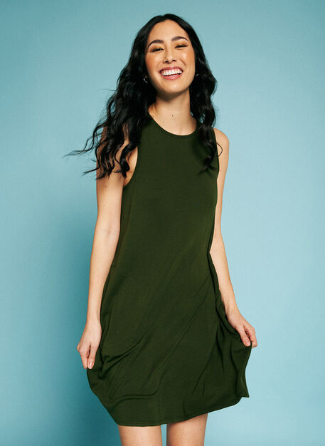 So Soft Dress, Grove Green | Kit and Ace