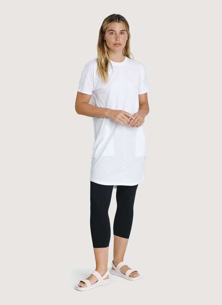 Kit Pima Tee Shirt Dress, Bright White | Kit and Ace