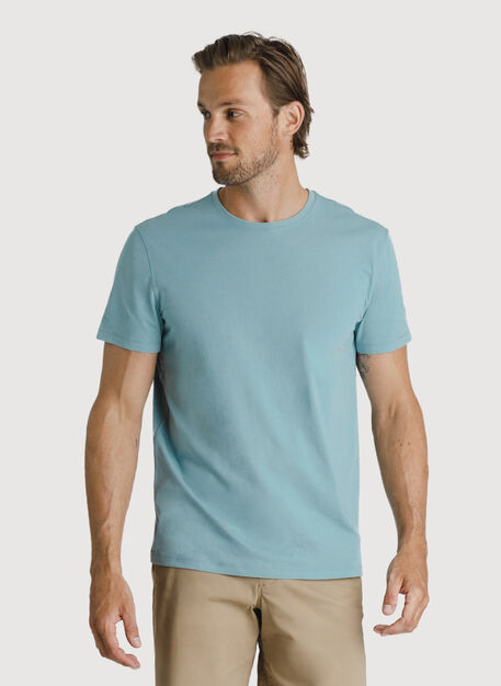 Ace Pima Crew Tee, Ocean Blue | Kit and Ace