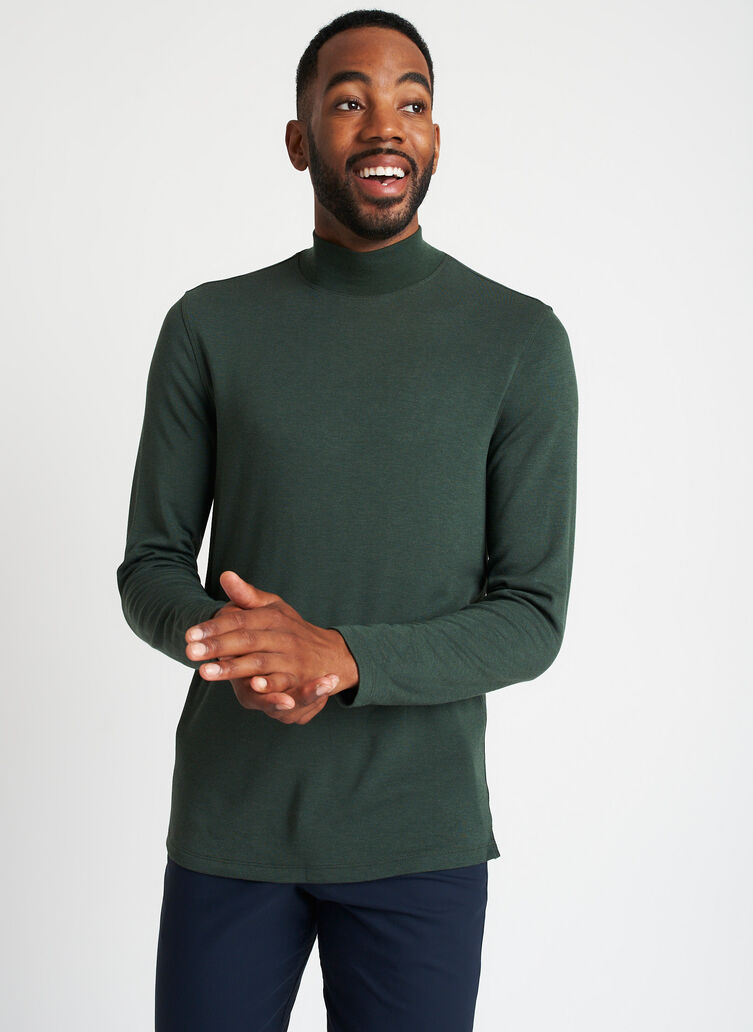 First Class Turtleneck, Heather Forest   Kit and Ace