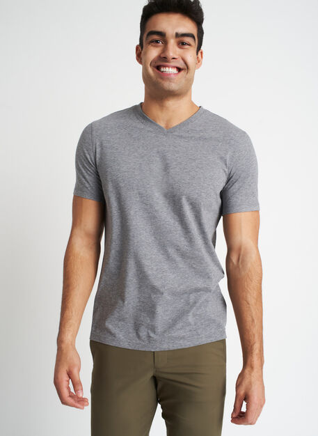 Ace V-Neck Tee | Premium Cotton, Heather Grey | Kit and Ace