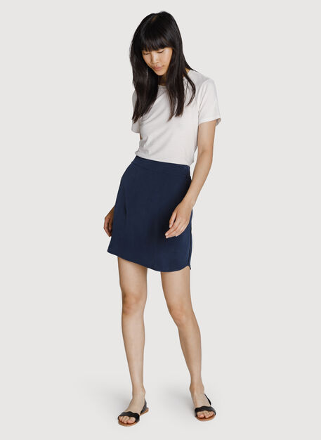 Easy Breezy Stretch Skirt, DK Navy | Kit and Ace