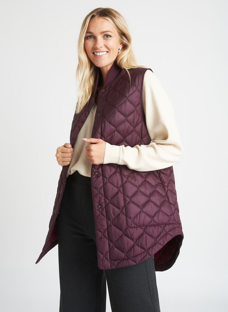 All Day Vest, Mulberry | Kit and Ace