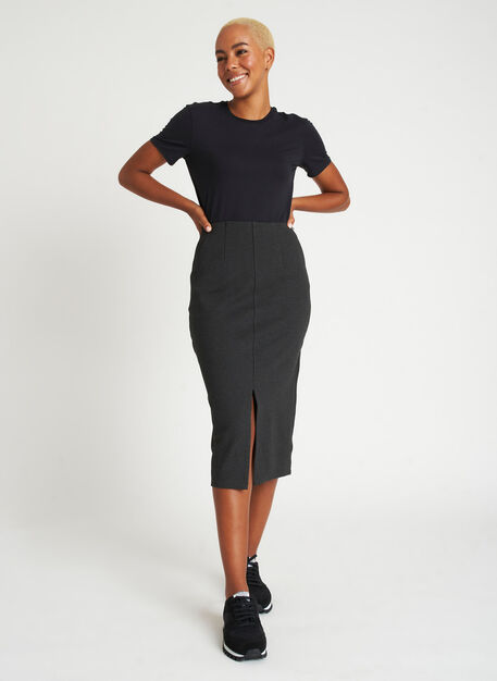 Serenity Pencil Skirt, Heather Charcoal | Kit and Ace